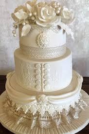 lace wedding cakes roses and lace wedding cake cakesbypat
