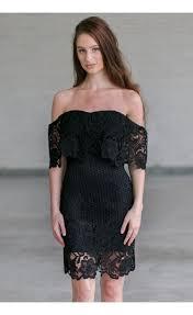 black crochet lace off shoulder dress cute black juniors dress