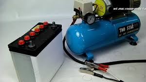 dc air compressor car battery demonstration teaching youtube