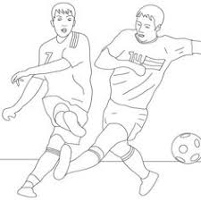 soccer player scoring penalty coloring sports