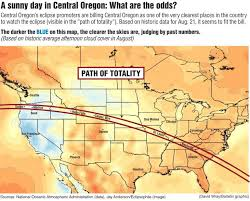 map of oregon showing madras weather records say madras really is ideal for eclipse madras