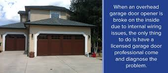 Overhead Garage Door Opener Common Garage Door Opener Problems When To Repair Replace