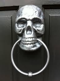 Unique Door Knockers Decor U0026 Tips Vintage Wooden Door Design With Silver Skull Door