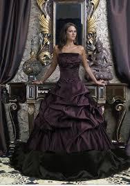 Purple Wedding Dress Strapless Dark Purple Wedding Dress With Ball Gowncherry Marry