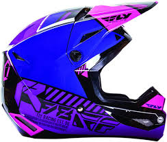 blue motocross helmets racing kinetic elite onset youth girls motocross helmets