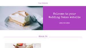wedding cake websites wedding cakes website templates godaddy