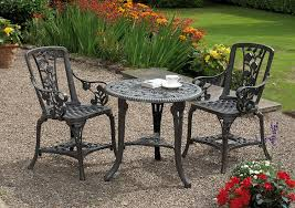 Wilko Garden Furniture Gablemere 2 Seater Plastic Rose Design Patio Set With Round Bistro