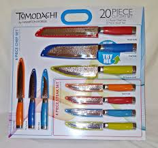 Stainless Steel Kitchen Knives Set by Tomodachi By Hampton Forge 20 Pc Knife Set Chef Bread Steak