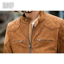 genuine leather motorcycle jacket aliexpress com buy brown genuine leather coat men quilted suede
