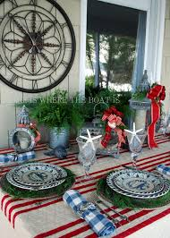a coastal christmas table setting seaside christmas ideas