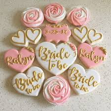 bridal shower bridal shower cookies in pink white and gold thanks for
