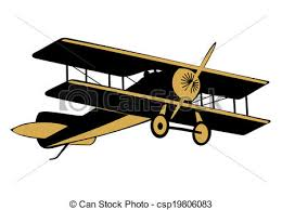 vector vintage airplane cartoon silhouette vintage