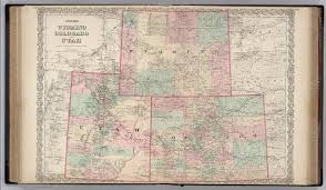 Map Of Colorado by Wyoming Colorado And Utah David Rumsey Historical Map Collection