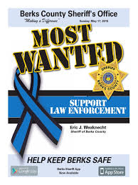 most wanted in berks sheriffs in the united states police