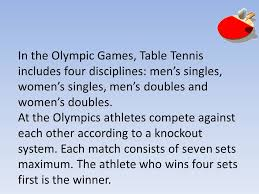 Table Tennis Doubles Rules Table Tennis By Nicole Galea History Of Table Tennis Table Tennis
