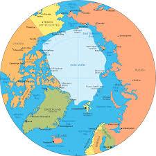 map world seas arctic map arctic circle and