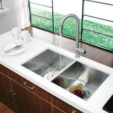White Undermount Kitchen Sink Sinks Black Granite Countertop Prestige Series Stainless Steel