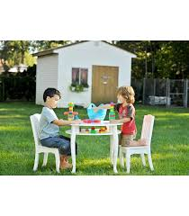White Kids Table And Chair Set - kids white round table and set of 2 chairs the winsdor collection
