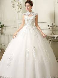 high neck ball gown applique wedding dress ball gowns wedding