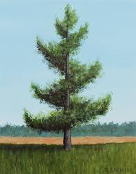 how to paint a spiral tree landscape by artist brandon schaefer