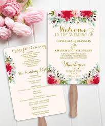 Fan Style Wedding Programs Which Wedding Program Format Is Right For You Mywedding