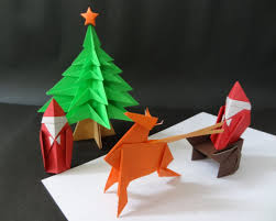 origami how to fold a tree ornament and