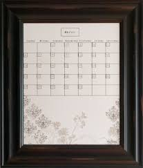 Decorative Magnetic Boards For Home by Dry Erase Calendars Calendar