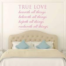 vinyl wall decals stickers for home decor bible verse wall art 1 corinthians 13 7 wall art true love