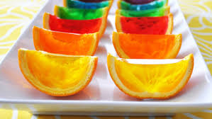 rainbow gelatin orange wedges recipe tablespoon com