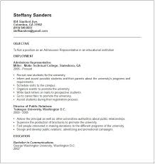 sle resume for college admissions representative training college admissions resume template 66 images resume for