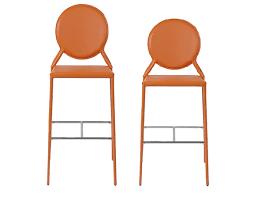 modern orange bar stools bar stool im isabella orange