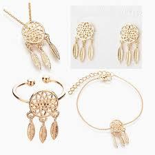 bracelet earring jewelry necklace images Dreamcatcher ring necklace bracelet earring 1 set jewelry set jpg