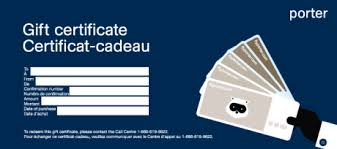 gift card for travel give the gift of travel gift certificates for travel porter airlines