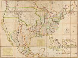 Map Of United States 1820 by British And Spanish Poss In North America 1820