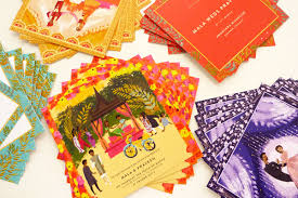 Thailand Wedding Invitation Card Mala And Praveen Jolly Edition Illustration And Stationery