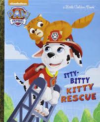 itty bitty kitty rescue paw patrol golden book
