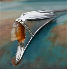 1958 pontiac indian ornament photograph by christopher