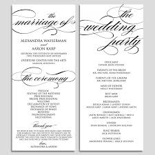 wedding program outline template wedding program template wedding program printable ceremony