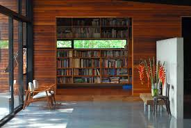 rustic style home office library interior ideas with classic photo