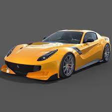 Ferrari F12 Yellow - f12 tdf 3d obj