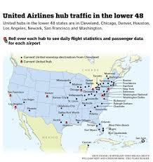 united airlines hubs united airlines hubs and current nonstop destinations from