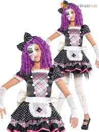 girls broken damaged doll halloween costume zombie kids fancy