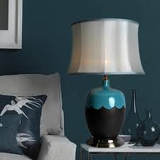 bedroom simple and neat decorating ideas with ceramic table lamps