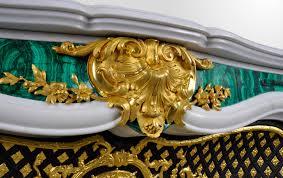 païva marble fireplace with malachite inlays superb custom made