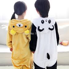 halloween dress party boy pajamas anime animals bear panda