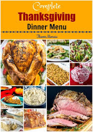 thanksgiving dinner menu with recipes flavor mosaic