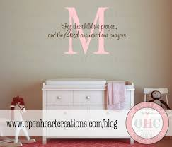 monogram wall decals for nursery vinyl wall decals scripture baby nursery for this child i