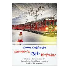 christmas train invitations u0026 announcements zazzle