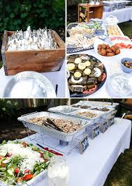 kitchen party ideas chic backyard engagement party ideas our backyard engagement party
