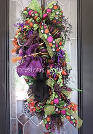 halloween door swag halloween wreath halloween decoration